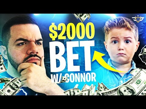 $2,000 BET WITH CONNOR! (Fortnite: Battle Royale)