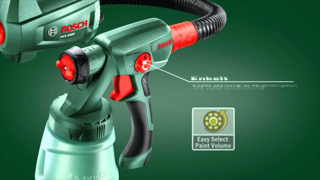 Bosch färgsprutsystem PFS 1000: Det användarvänligaste ...