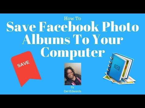How to save my facebook photos