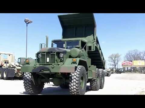 M817 Am General 6x6 Dump Truck 5 Ton Military Diesel Youtube
