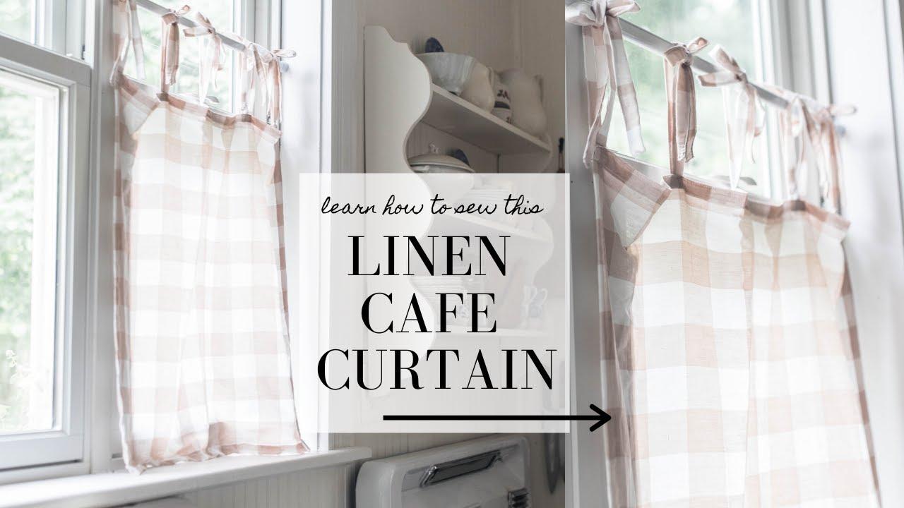 How to Sew a Cafe Curtain | Linen Farmhouse Curtain Tutorial