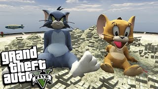 GTA 5 Mods - TOM AND JERRY ROB A BANK MOD (GTA 5 PC Mods Gameplay)