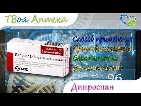 Дипроспан ампулы - показания (видео инструкция) описание, отзывы