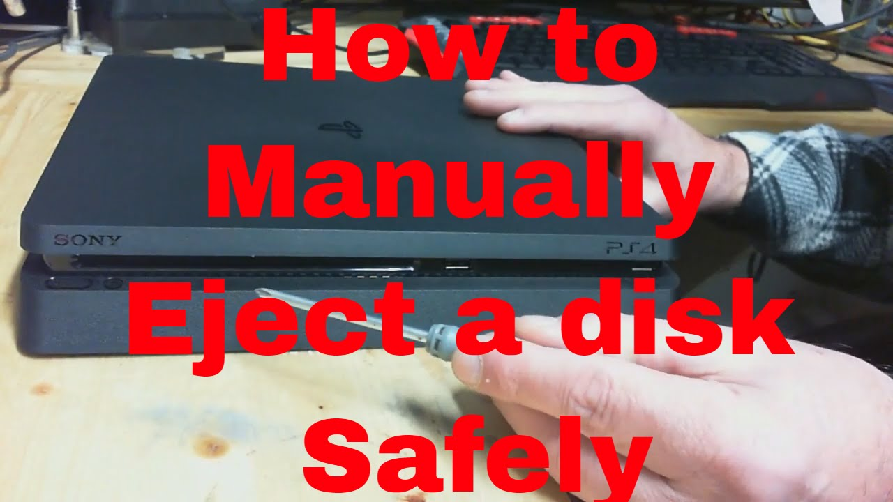 how to get disk out of ps4