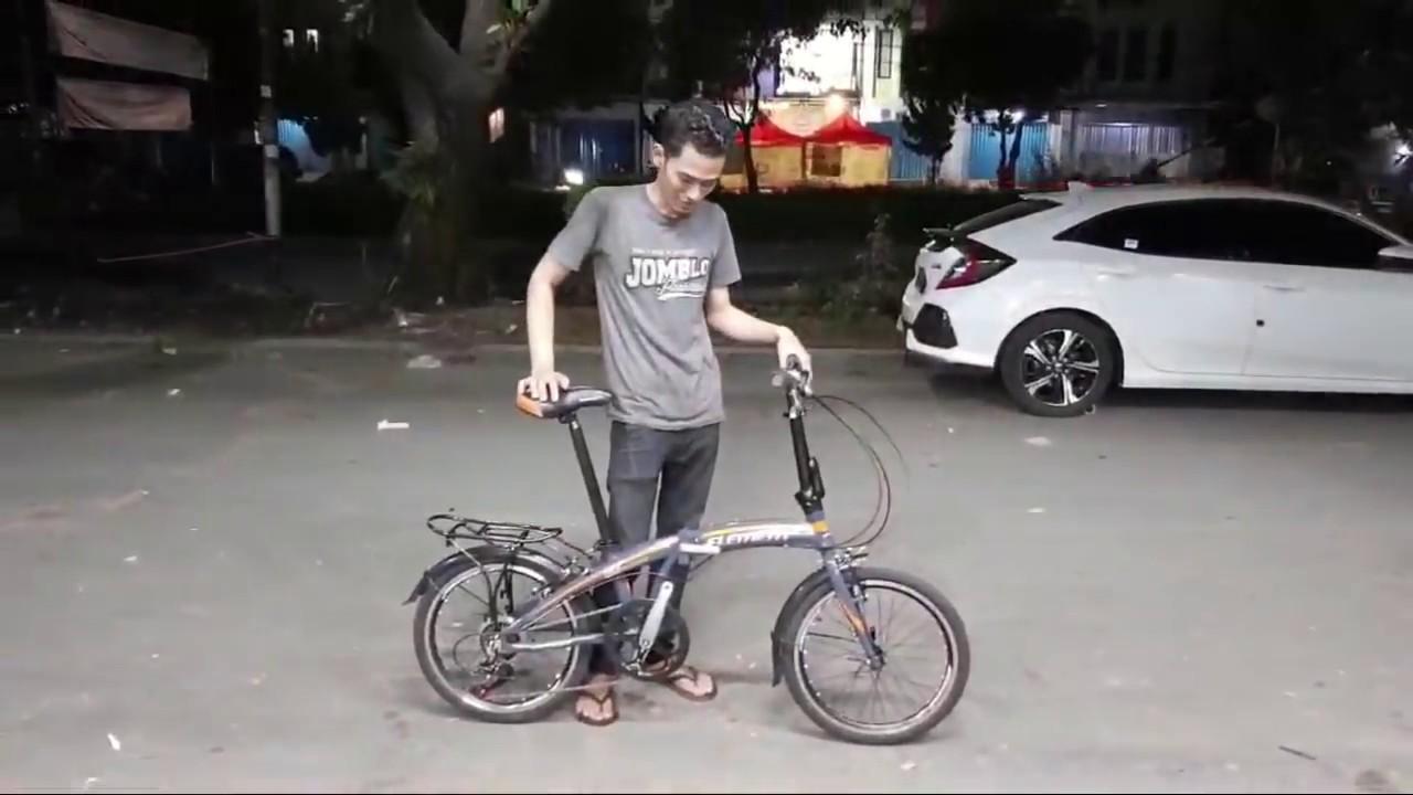 Sepeda Lipat Element 20 Ecosmo mirip Dahon ⭐⭐⭐⭐⭐ - YouTube