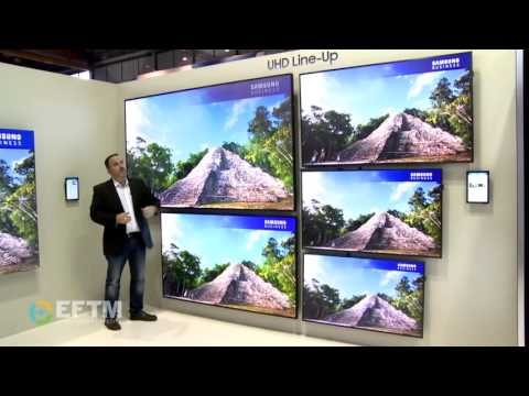 Samsung corporate and retail LED 4K screens - on show at Integrate Sydney
