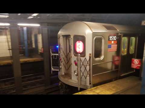 MTA NYC Subway: IRT 7th Avenue Action at Christopher and Chambers Streets