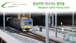 왕십리역 지나가는 열차들 / Wangsimni station Passing trains / 往十里(ワンシムニ)駅通過列車