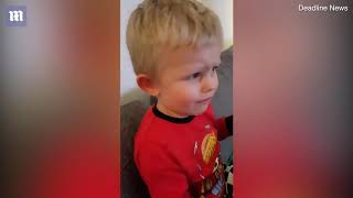 Funny moment children get a bag of broccoli thinking theyre sweets