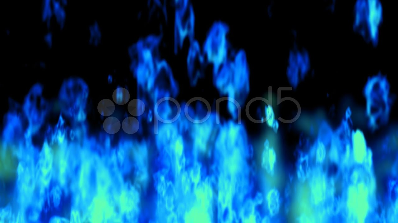 3d Moving Fireplace Wallpaper Blue Flames Looping Animated Background Stock Footage