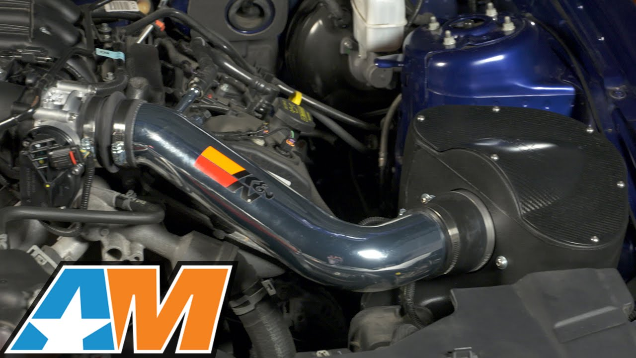 2011 2014 Mustang K N Series 69 Typhoon Air Intake Dyno Run V6