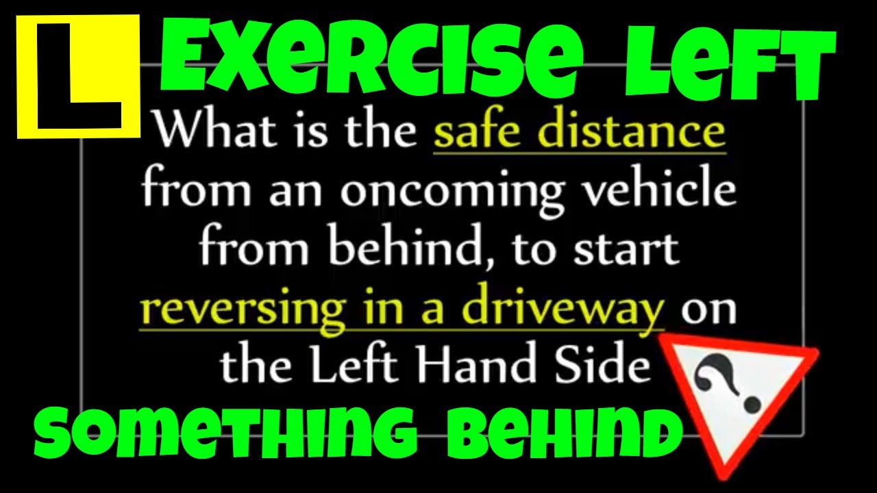 Perth Driving Lessons Reversing In A Driveway Safe Distance