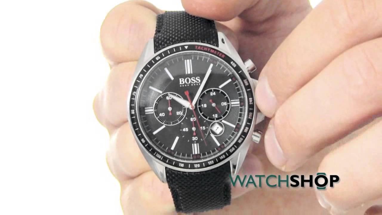 66b509ad7abb Hugo Boss Men's Chronograph Watch (1513087) - YouTube