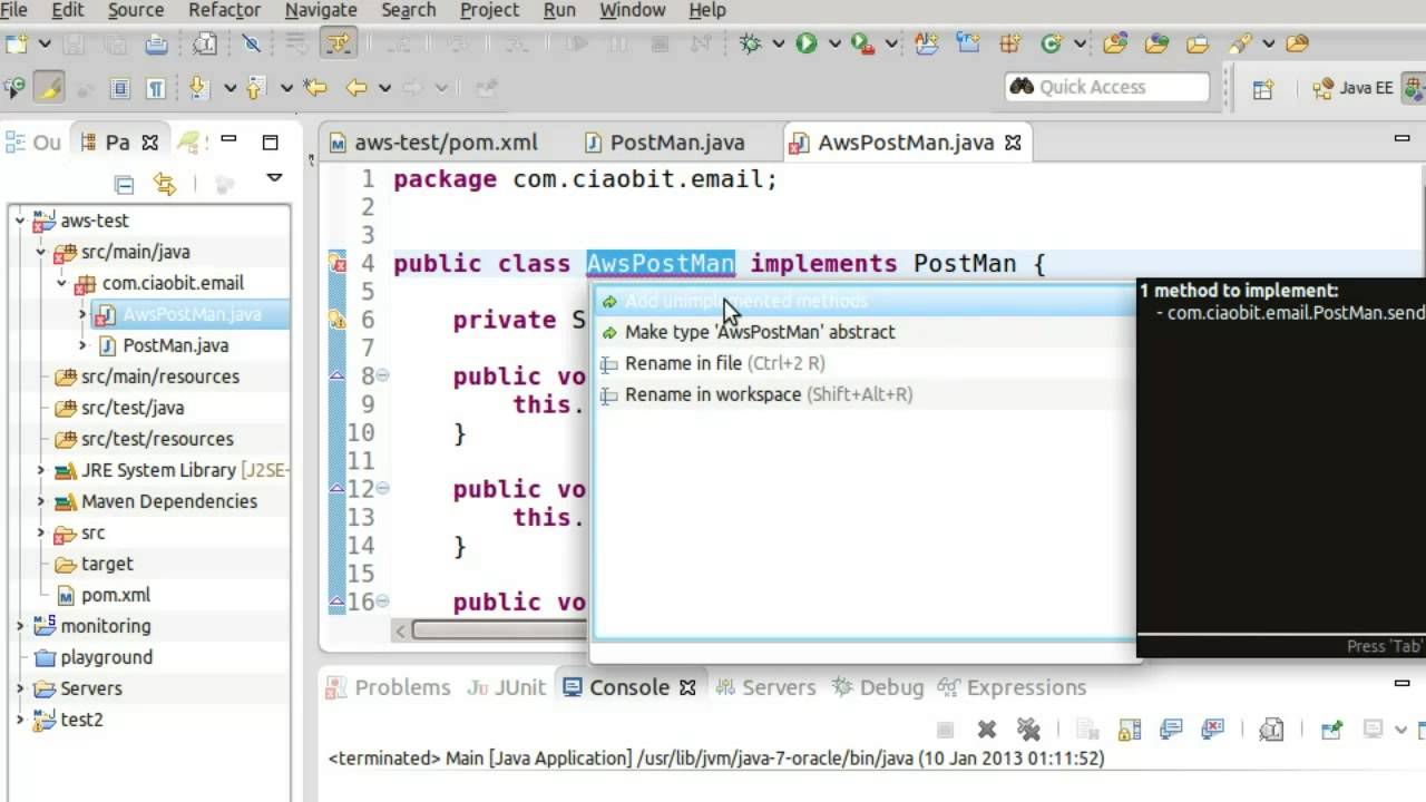 Amazon AWS Simple Email Service with Java 1/2