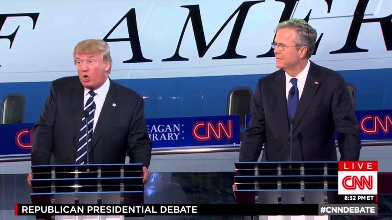 (中文字幕) 川普和布希爭論賭場-Donald Trump and Jeb Bush Battle Over Casino - YouTube