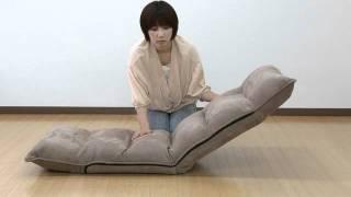 座椅子(低反発ウレタン・14段階リクライニング・ブラック) thumbnail