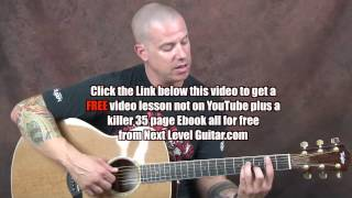 Acoustic Fingerstyle guitar lesson Brad Paisley inspired build melody patterns Whiskey Lullaby style