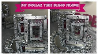 DOLLAR TREE DIY GLAM FRAME - SIMPLE SUNDAY DIY #blingqueen