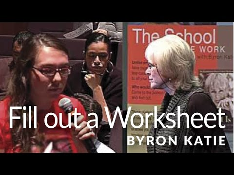 filling out the judge your neighbor worksheet the work of byron katie youtube. Black Bedroom Furniture Sets. Home Design Ideas
