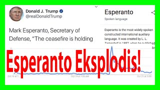 Esperanto Trump Tweet - La rezultoj #neperfekte [In Esperanto with English subtitles]