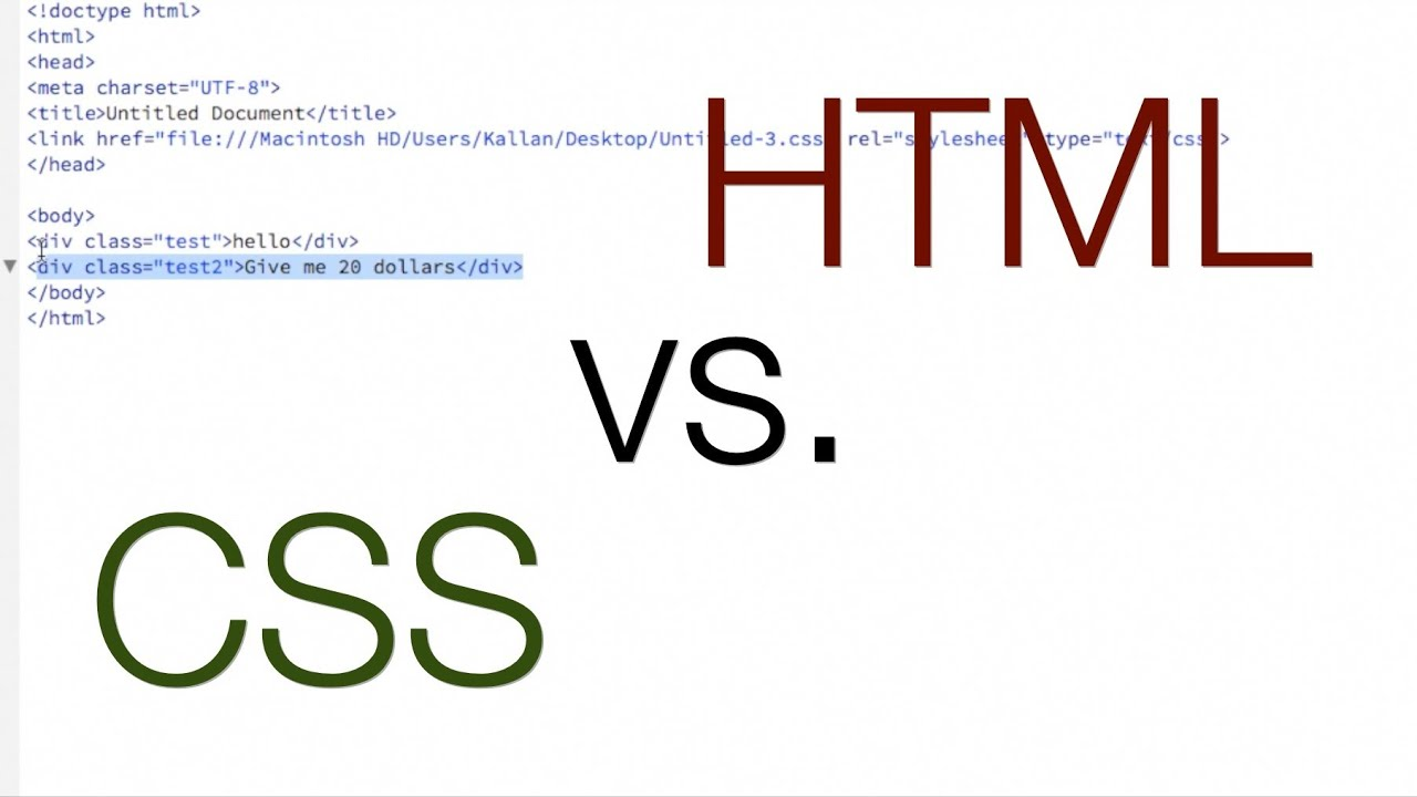 What s the difference between html and css