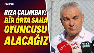 Sivasspor teknik direktörü Rıza Çalımbay: Yüzde yü