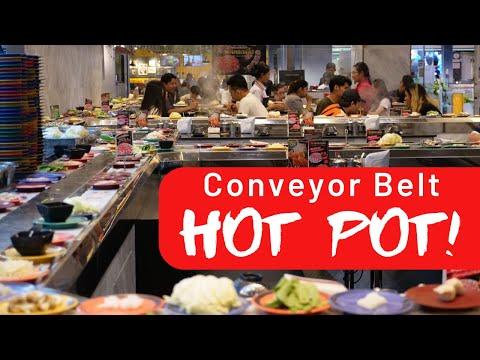 Shabushi Conveyor Belt Hot Pot Restaurant In Thailand