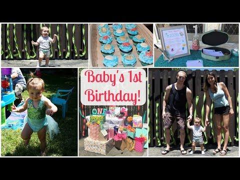 BABY'S 1ST BIRTHDAY PARTY | Mermaid Theme