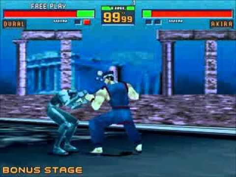 Virtua Fighter 2 Akira Vs Dural Youtube