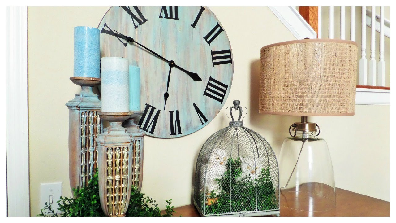 weekend diy rustic oversized wall clock