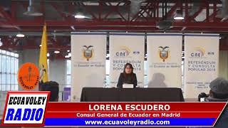 RUEDA DE PRENSA, CONSUL GENERAL DE ECUADOR EN MADRID