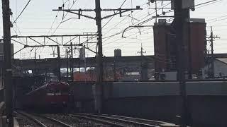 [検査明け‼️ピカピカ編成‼️]名鉄100系 200番台 211f(上小田井止まり)上小田井駅  到着‼️
