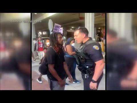 Fort Lauderdale police identify officer seen on video shoving a protester