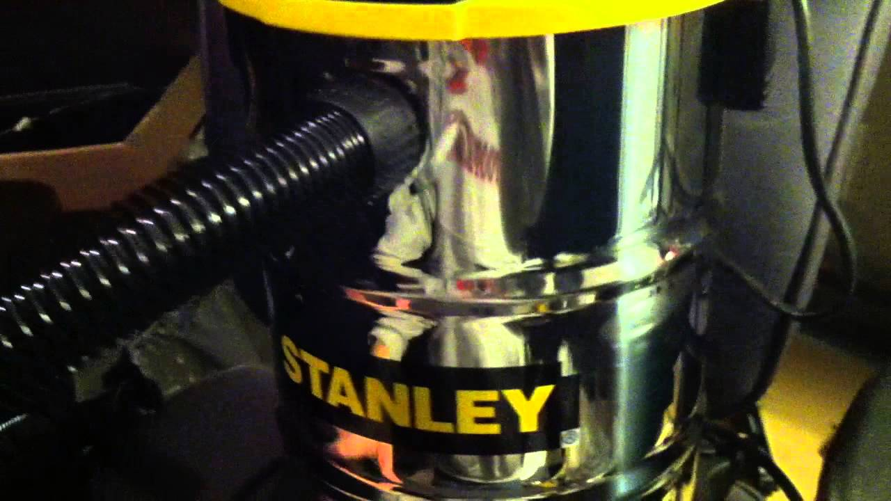 Stanley 4 5hp 5 gallon wet dry shop vac review - YouTube