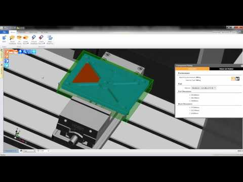 4a. Edgecam TestDrive tutorial - Selecting a machine and feature finding