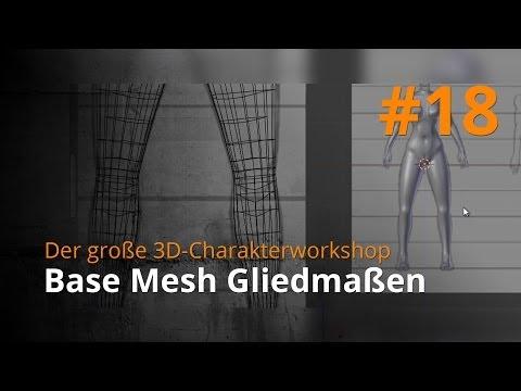 Blender 3D-Charakterworkshop Teil 1 | #18 – Base Mesh Gliedmaßen