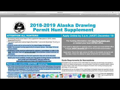 How to Draw Tags and Find Hunts in Alaska