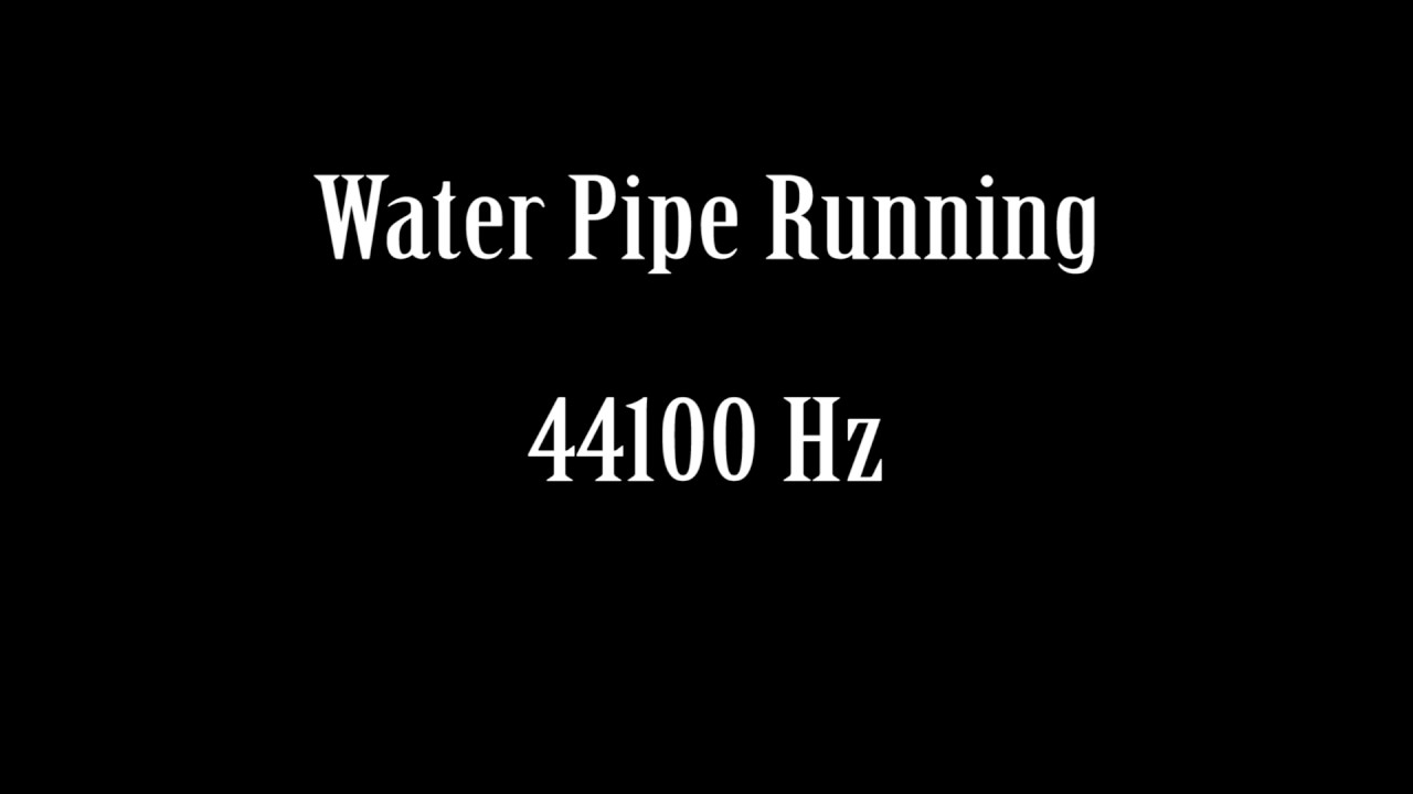 Copper Water Pipe Running Sound Effect Free High Quality Sound FX ...