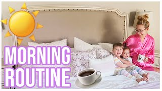MORNING ROUTINE OF A MOM   SUMMER AM SCHEDULE FOR A MOM OF TWO CHILDREN   Brianna K