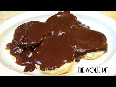 Southern Chocolate Gravy And Biscuits - Good Old Fashioned Southern Comfort Food