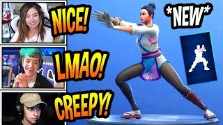 "STREAMERS REACT TO *NEW* ""TAI CHI"" EMOTE/DANCE! *RARE* Fortnite FUNNY & SAVAGE Moments"