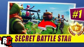 Secret Battle Star Location WEEK 1 SEASON 5 | Fortnite (Road Trip Challenge / Loading Screen Week 1)