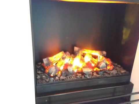 Elektro Kamin LINEA EL H Mit 3D Feuer, Rauch Und Glut