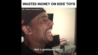 Funny dad explains buying toys is waste of money