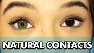 11 Natural Color Contacts Try-On & Review (Dark Brown Eyes) ... Fiona Frills