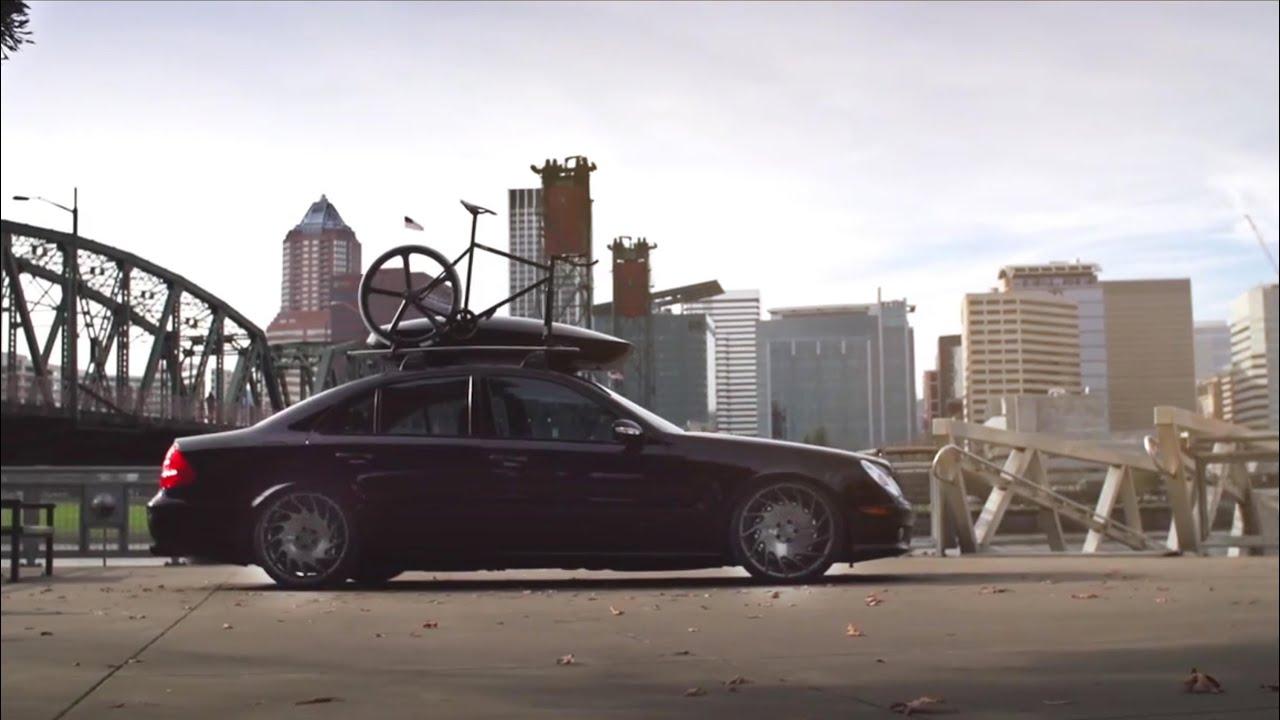 Tim 39 s mercedes e55 on vossen vle 1 youtube for Mercedes benz downtown portland