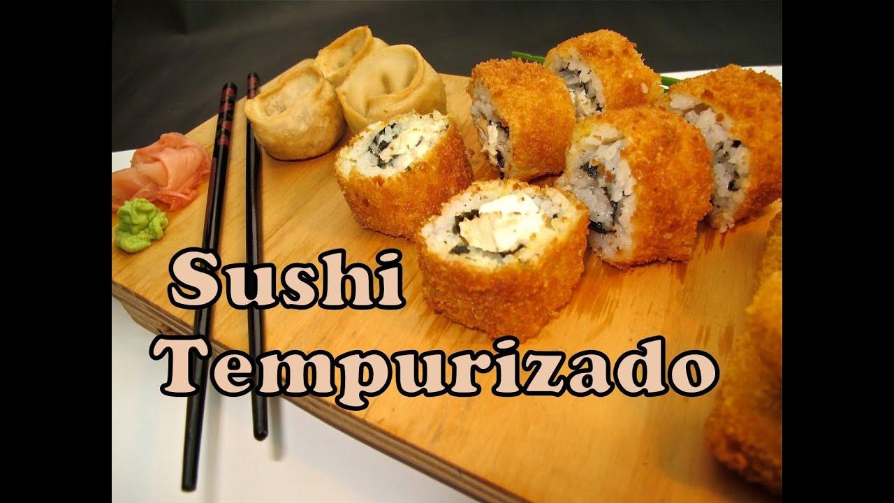 receta de sushi tempura youtube