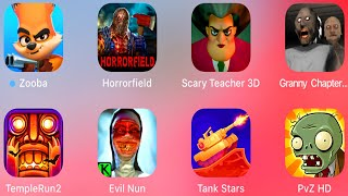 Zooba,Horrorfield,Scary Teacher 3D,Granny 2,Temple Run 2,Evil Nun,Tank Stars,Plants vs Zombies,