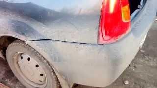 Подтяжка. Провисание заднего бампера на Renault Logan/Рено логан.