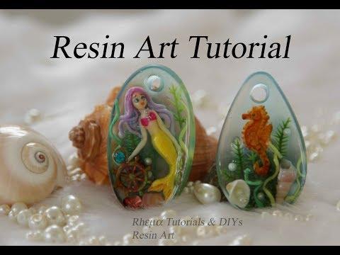 MERMAID in Resin -  Mini mermaid aquarium - Seahorse in Resin / ART RESIN